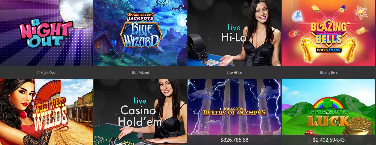 Bet365 Casino games.