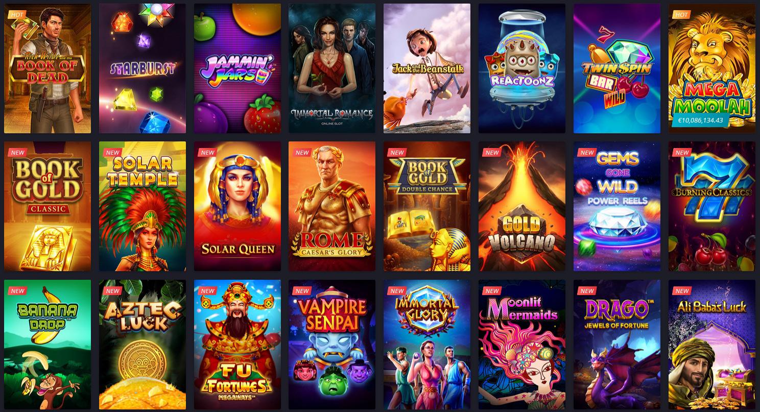 Twin Casino slots.